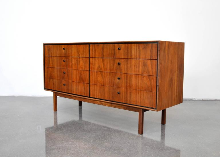 Milo Baughman for Arch Gordon Walnut Double Dresser 3