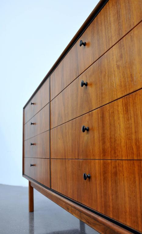 Milo Baughman for Arch Gordon Walnut Double Dresser 6