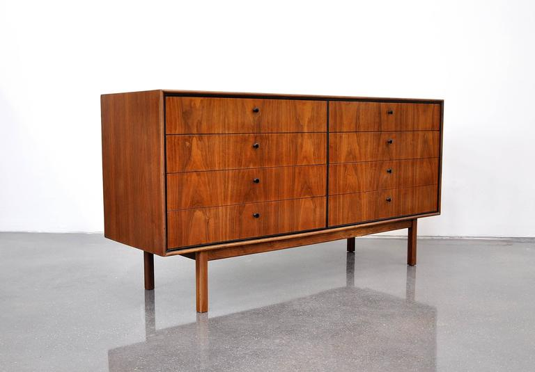 Milo Baughman for Arch Gordon Walnut Double Dresser 2