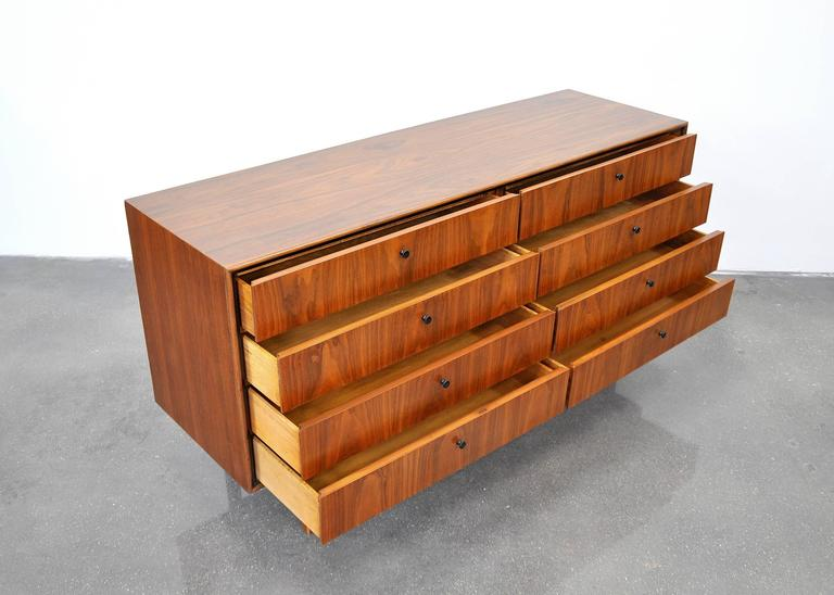 Milo Baughman for Arch Gordon Walnut Double Dresser 8