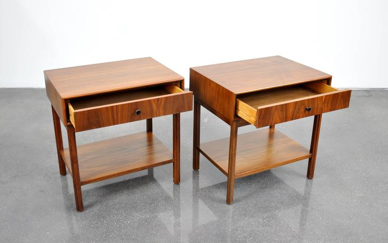Pair of Milo Baughman for Arch Gordon Walnut Nightstands or Side Tables 6
