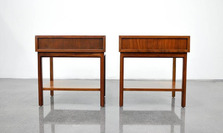 Pair of Milo Baughman for Arch Gordon Walnut Nightstands or Side Tables 2