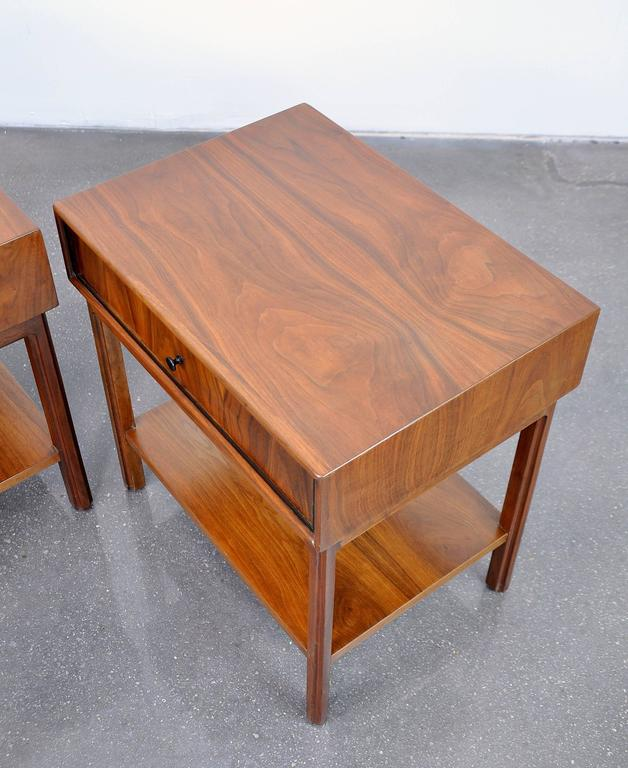 Pair of Milo Baughman for Arch Gordon Walnut Nightstands or Side Tables 7