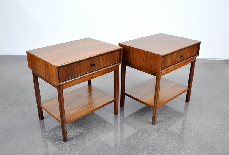 Pair of Milo Baughman for Arch Gordon Walnut Nightstands or Side Tables 5