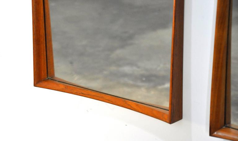 Pair of Svend Madsen for Falster Teak Mirrors 5