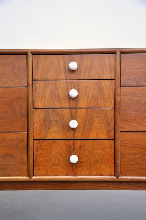 Kipp Stewart and Stewart MacDougall for Drexel Declaration Walnut Triple Dresser 6
