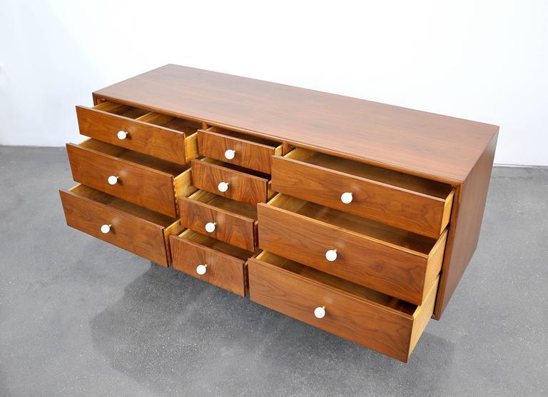 Kipp Stewart and Stewart MacDougall for Drexel Declaration Walnut Triple Dresser For Sale 1