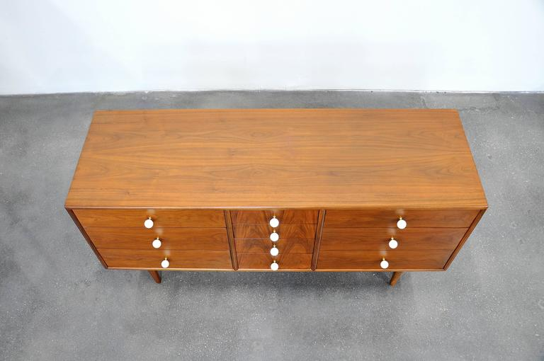 Kipp Stewart and Stewart MacDougall for Drexel Declaration Walnut Triple Dresser 9