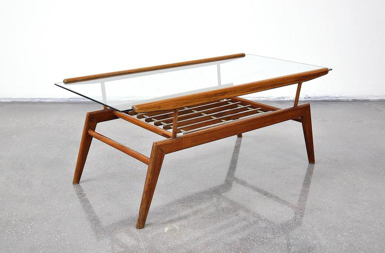 Italian Mid Century Gio Ponti Style Coffee Table For Sale At 1stdibs