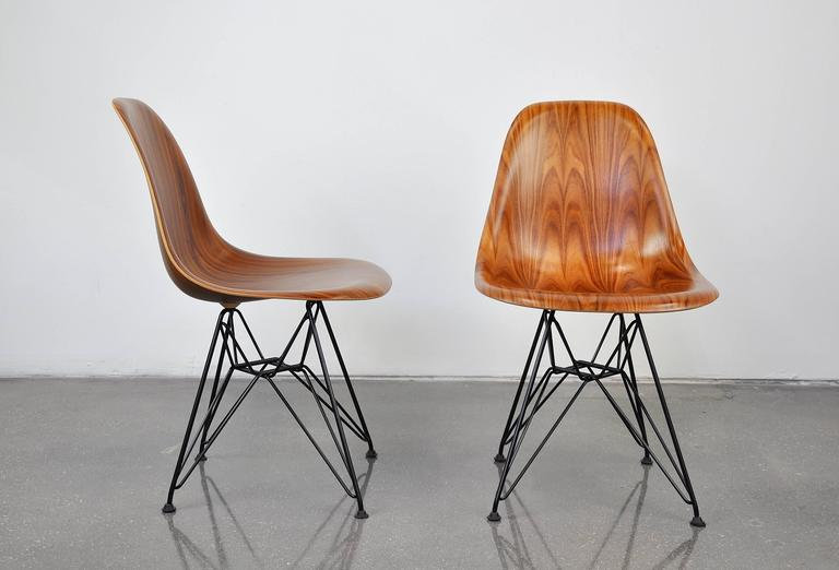 pair miller herman eames table price coffee shell side chair