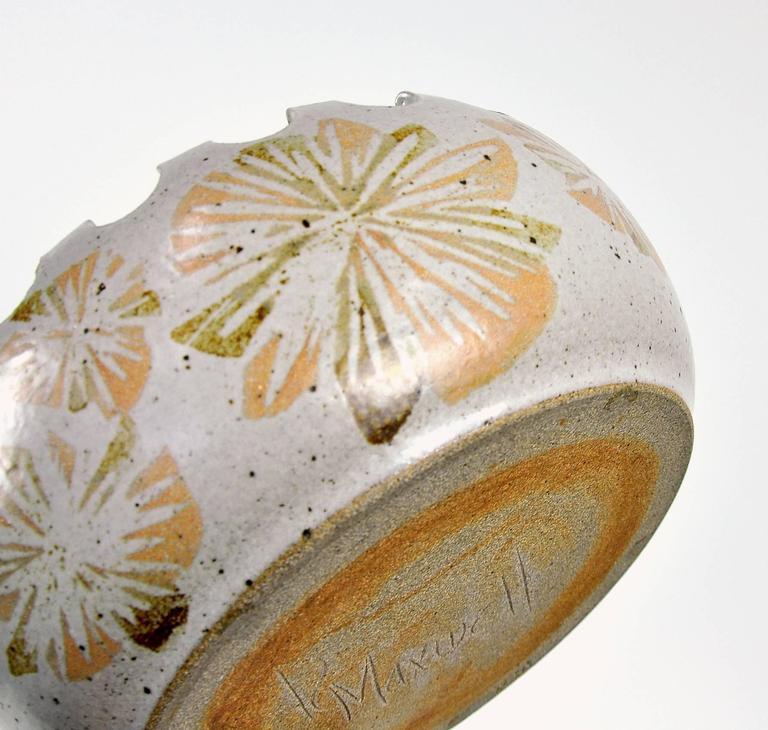 Organic Modern David Cressey California Studio Pottery Planter For Sale
