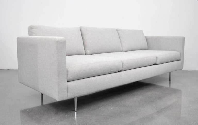 Contemporary Milo Baughman for Thayer Coggin Gray Design Classic Sofa For Sale