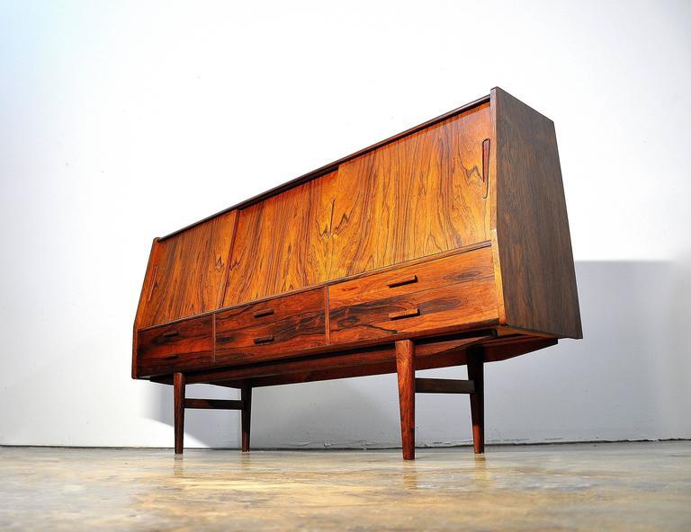 Borge Seindal Rosewood Dry Bar Sideboard, Vestergaard Mobler, Denmark, 1960s 3