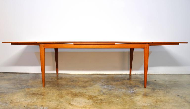 Large Niels Moller Teak Expandable Dining Table Model 12 Denmark