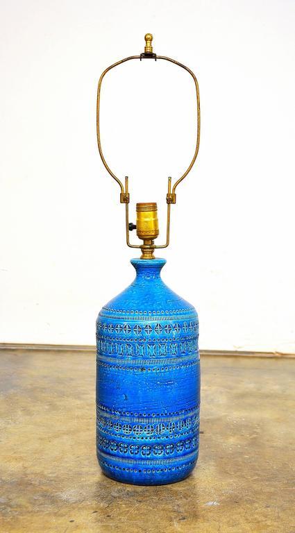 Aldo Londi for Bitossi Rimini Blu Italian Ceramic Lamp, circa 1960 3