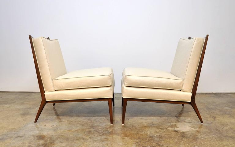 American Pair of Paul McCobb for Directional 1320 Slipper Chairs For Sale
