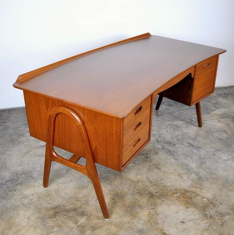 Svend Aage Madsen Teak Desk For Sale 3