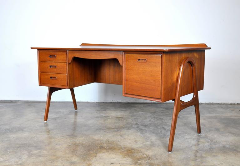 Danish Svend Aage Madsen Teak Desk For Sale