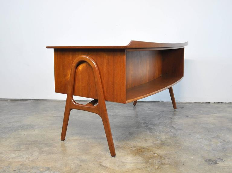 Svend Aage Madsen Teak Desk For Sale 1
