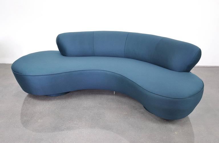 Wool Vladimir Kagan Directional Serpentine Sofa For Sale
