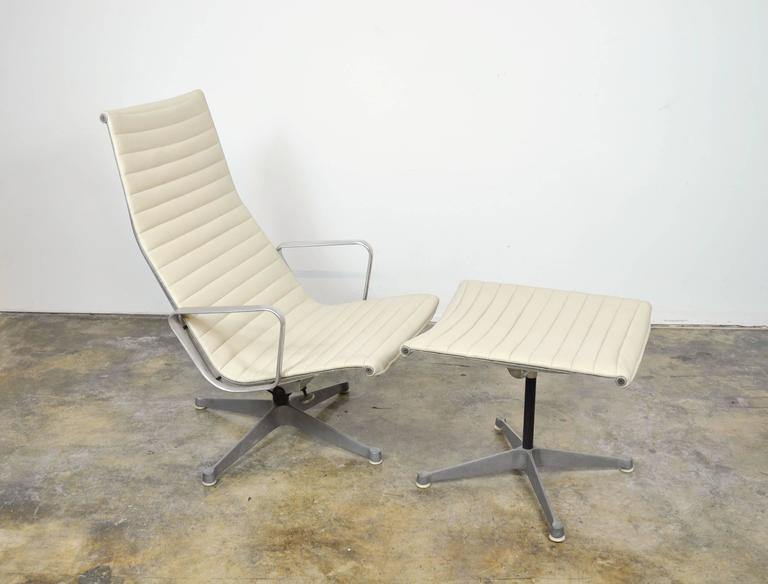 Eames Herman Miller Aluminium Group Lounge Chair and Ottoman 2