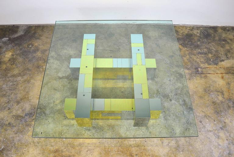 Paul Evans for Directional Brass and Chrome Cityscape Coffee Table 3