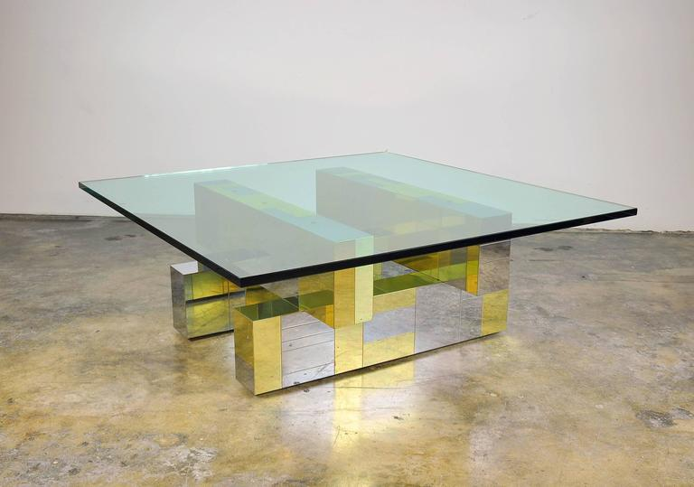 Paul Evans for Directional Brass and Chrome Cityscape Coffee Table 4