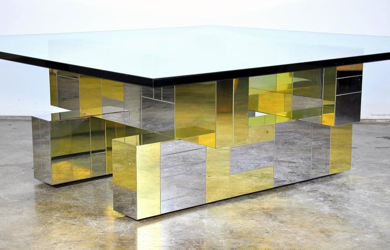 Paul Evans for Directional Brass and Chrome Cityscape Coffee Table 5