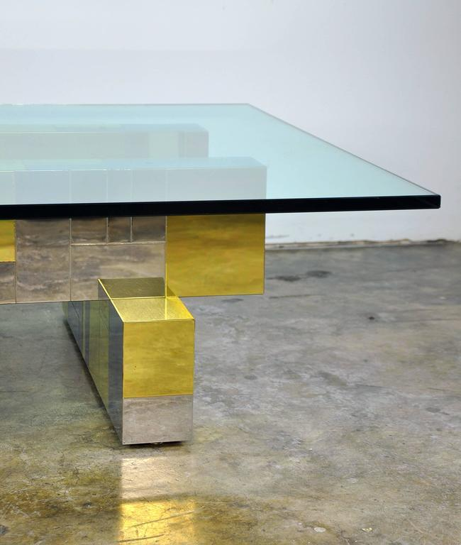 Paul Evans for Directional Brass and Chrome Cityscape Coffee Table 8