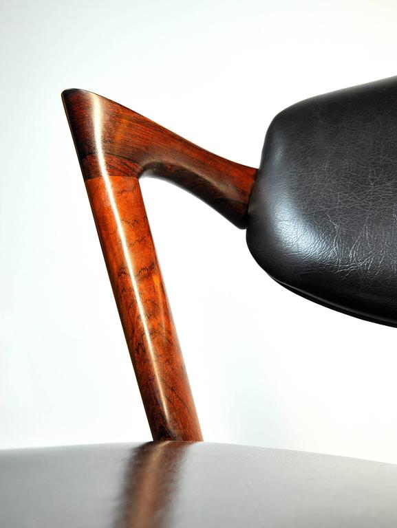 Set of Four Kai Kristiansen Model 42 Rosewood Dining Chairs 5