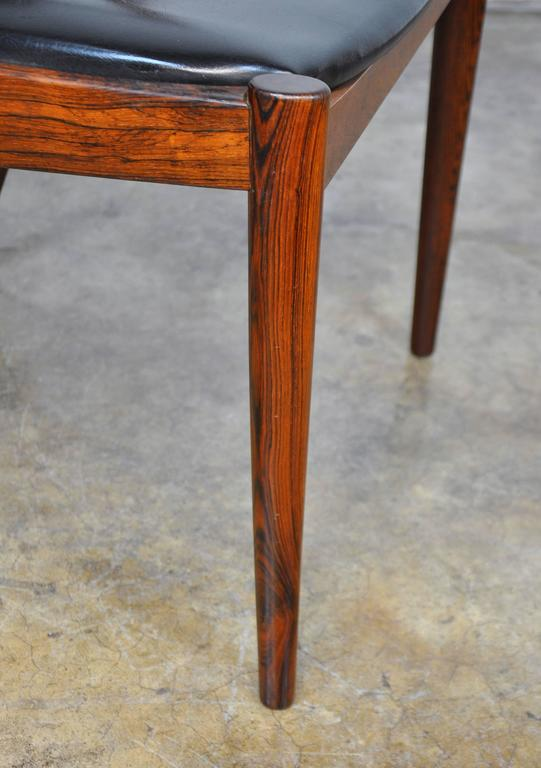 Set of Four Kai Kristiansen Model 42 Rosewood Dining Chairs 10