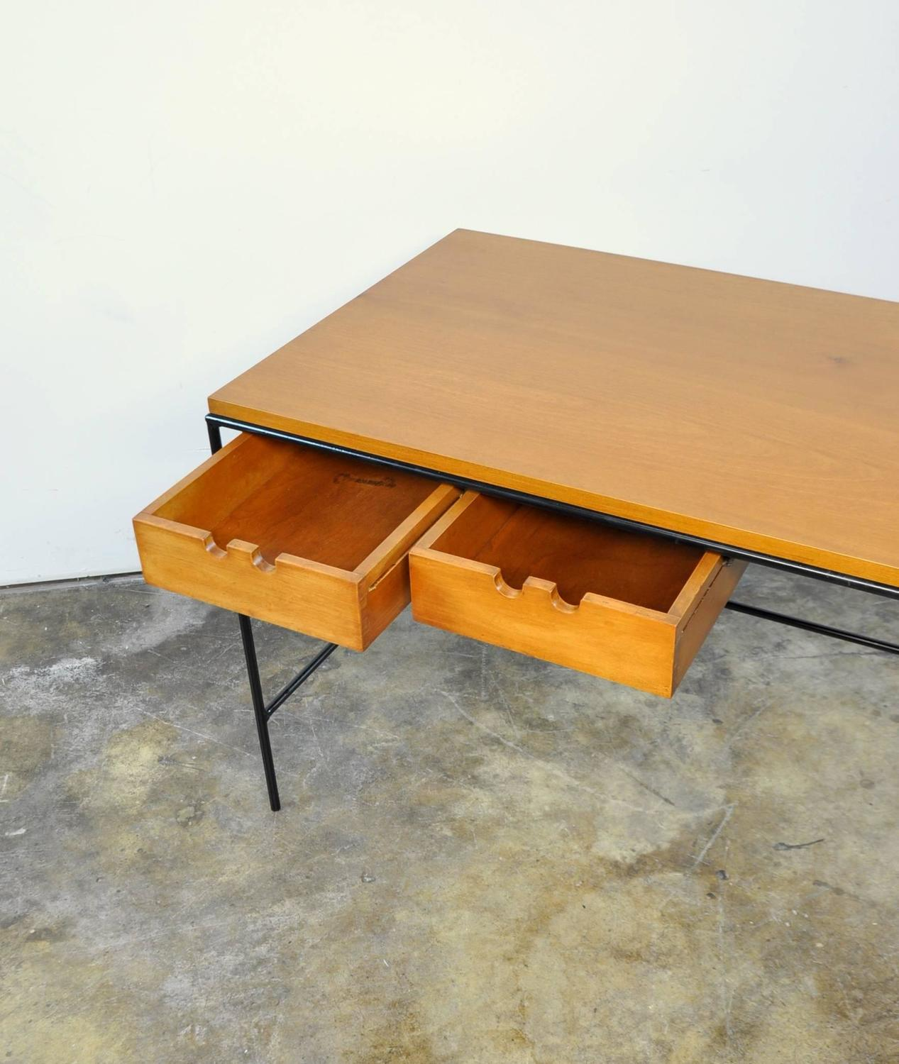 Paul Mccobb Winchendon Iron And Maple Coffee Table For Sale At 1stdibs