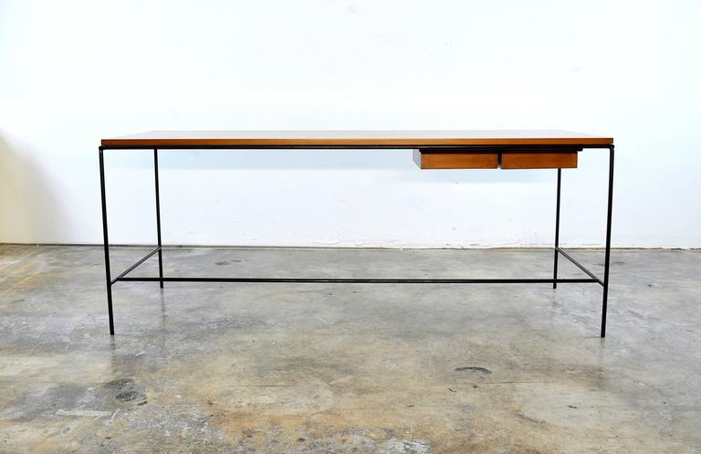 Paul McCobb Winchendon Iron and Maple Coffee Table 4