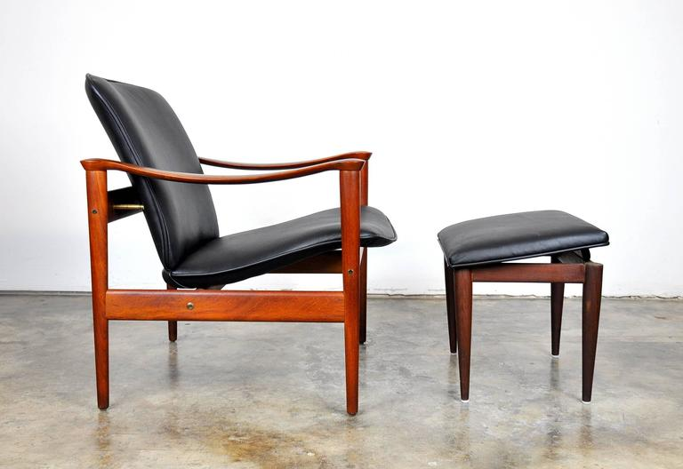 Fredrik Kayser for Vatne Møbler Teak Lounge Chair and Ottoman 3