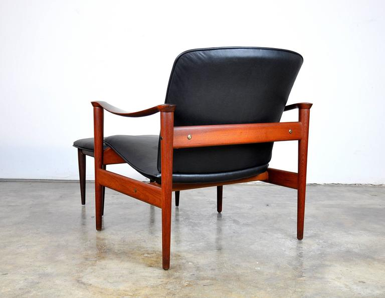 Fredrik Kayser for Vatne Møbler Teak Lounge Chair and Ottoman 4