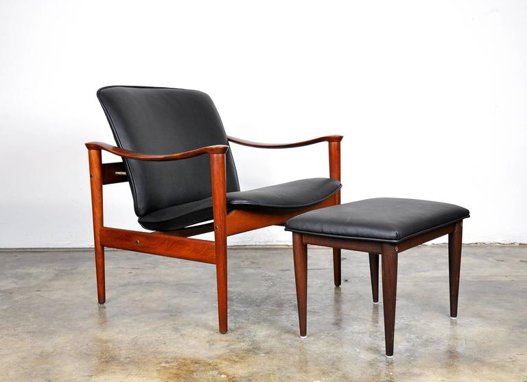 Fredrik Kayser for Vatne Møbler Teak Lounge Chair and Ottoman 6