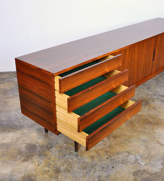 Mid-20th Century H.W. Klein for Bramin Rosewood Credenza Bar For Sale