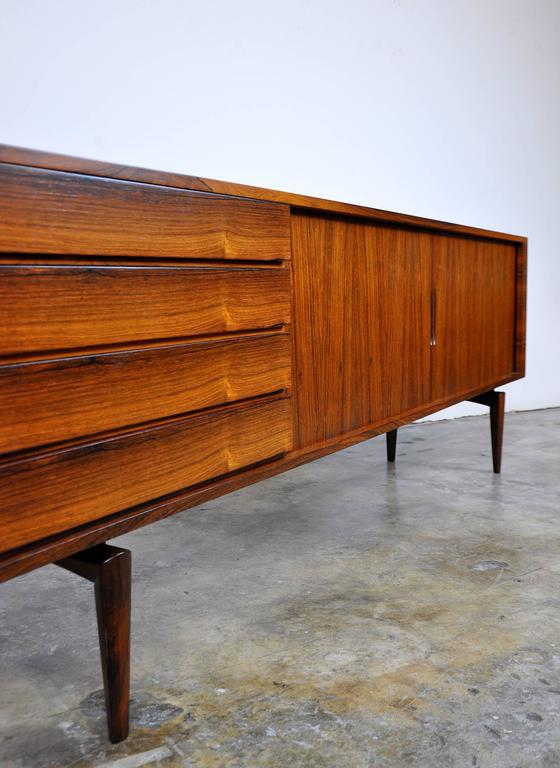 H.W. Klein for Bramin Rosewood Credenza Bar In Excellent Condition For Sale In Miami, FL