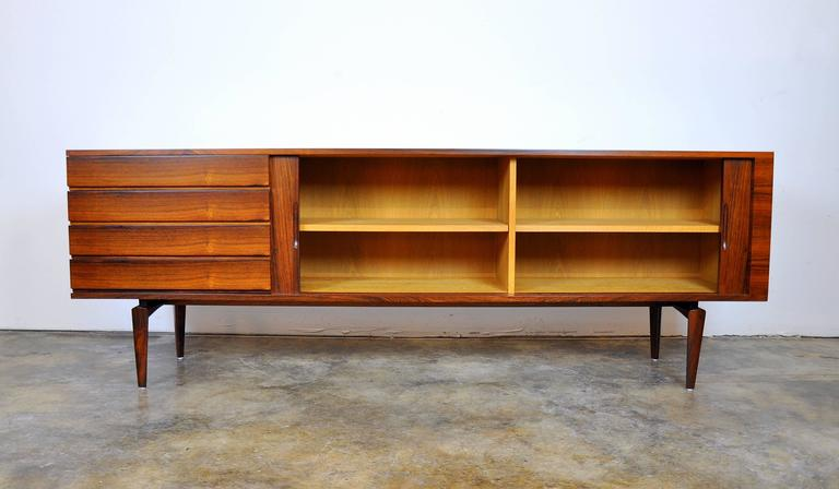 Danish H.W. Klein for Bramin Rosewood Credenza Bar For Sale