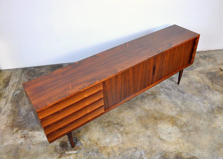 H.W. Klein for Bramin Rosewood Credenza Bar For Sale 3