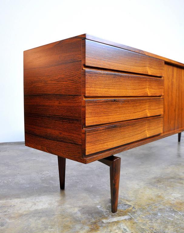 H.W. Klein for Bramin Rosewood Credenza Bar For Sale 1