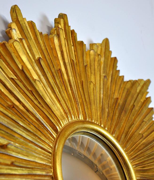 Carvers Guild Loretto Giltwood Sunburst Convex Mirror 4