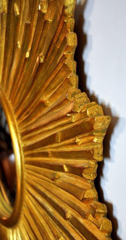 Carvers Guild Loretto Giltwood Sunburst Convex Mirror 7