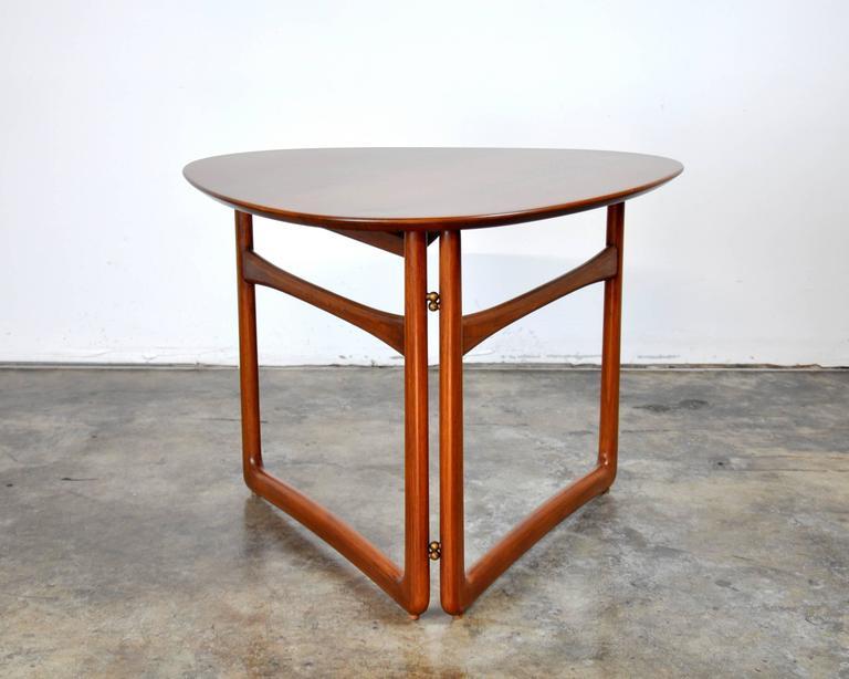 Danish Peter Hvidt and Orla Mølgaard-Nielsen for France and Daverkosen Teak Side Table For Sale