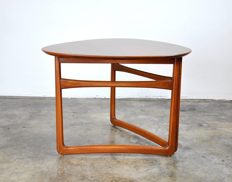Scandinavian Modern Peter Hvidt and Orla Mølgaard-Nielsen for France and Daverkosen Teak Side Table For Sale