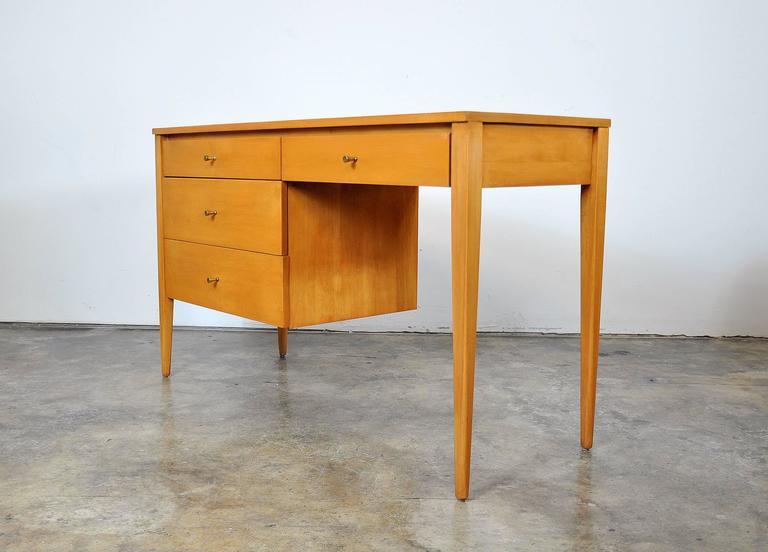 Mid-Century Modern Paul McCobb Maple Desk or Vanity Table For Sale