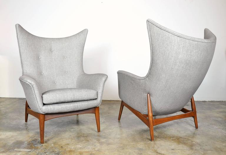 Pair Of H.W. Klein For Bramin Teak Wingback Lounge Chairs 2