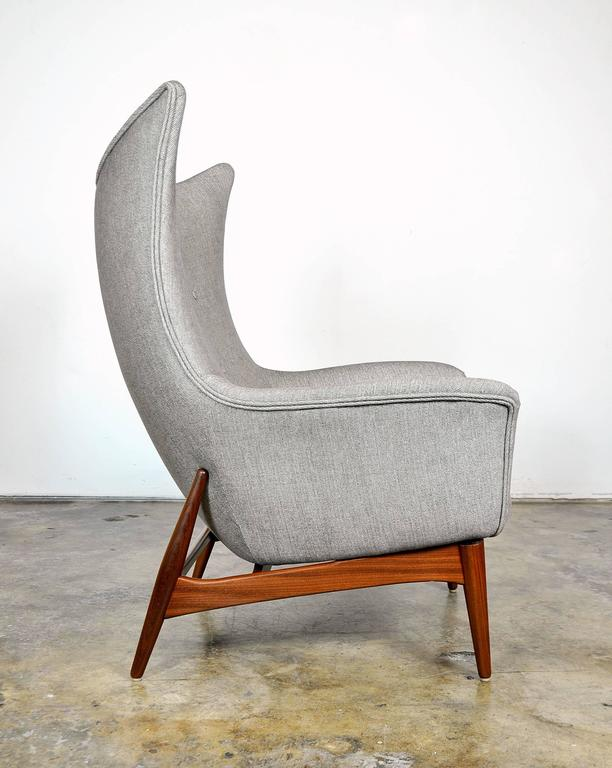Pair of H.W. Klein for Bramin Teak Wingback Lounge Chairs 4