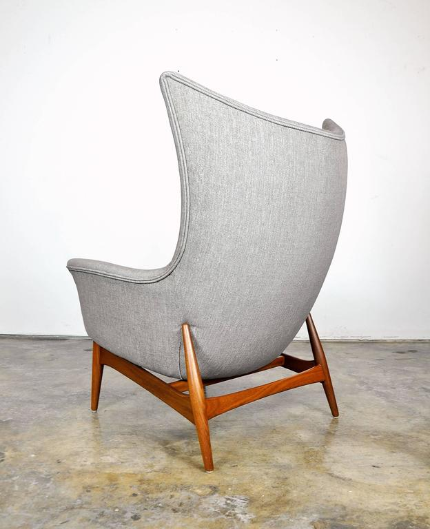 Pair of H.W. Klein for Bramin Teak Wingback Lounge Chairs 7