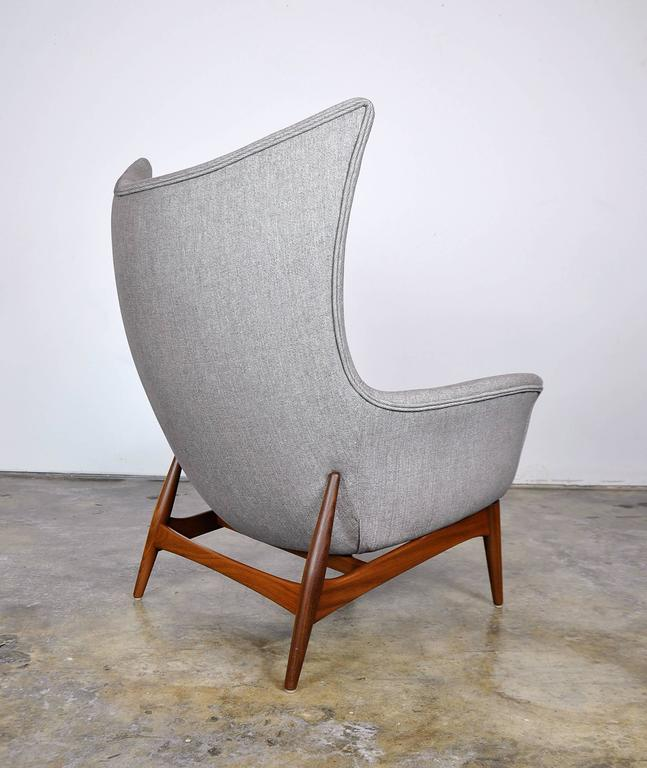 Pair of H.W. Klein for Bramin Teak Wingback Lounge Chairs 3